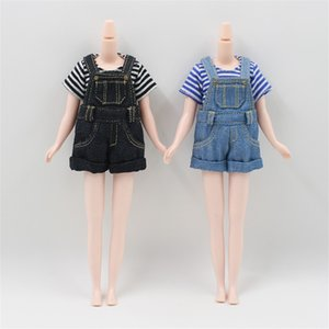 DBS icy doll Blyth Doll bjd licca body Strap jumpsuit shorts black and blue