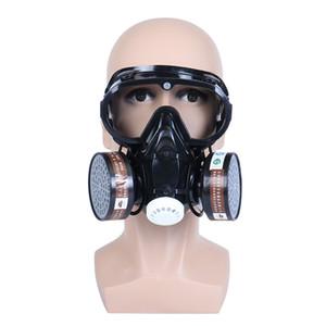 100% maschera nuova marca respiratore Gas Chemical Safety Anti-filtro polvere militare Eye Maschera Set Protezione Sicurezza sul posto di lavoro