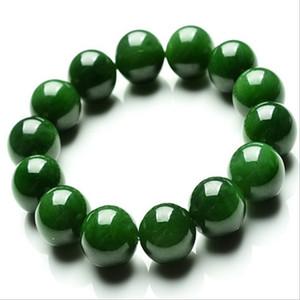 Doğal Tayvan Gri Jade yuvarlak Boncuk Bileklik Jasper Bilezikler Yeşil Yeşim Erkekler Ve Kadınlar Boncuklu bileklik Üreticileri Whol