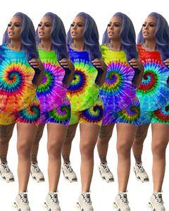المرأة الصيف السراويل تتسابق عباد الشمس طباعة T Shirt أعلى + السراويل 2 قطعة مجموعة كم قصير تي شيرت رياضية تصميم ملابس رياضية ملابس البدلة