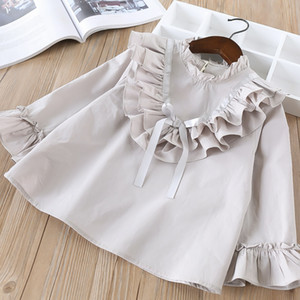 Chemise a manches pour enfants New Elegant Vagrant Baby Lovely Flying Baby Solid Jacket
