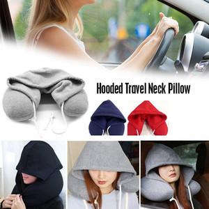 Body Neck Pillow solide Nap coton particules oreillers moelleux oreiller à capuchon en forme de U Avion Voiture Voyage Oreiller Textile RRA2715