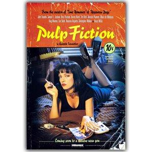 Pulp Fiction de seda del arte impresión del cartel 30x45cm 50x75cm imágenes de vídeo Living Room Decor