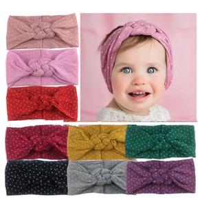 Bebek Kız saç bantlarında Çapraz Çin Yumuşak Kafa moda Esneklik Dot Bow Kız Bebek Saç Aksesuarları Headband knot