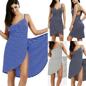 Home Textile Towel Women Robes Bath Wearable Stripe Towel Dress Girls Women Fast Drying Beach Spa Magical Nightwear Sleeping