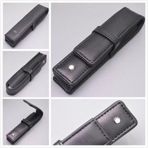 Atacado Preto PU ou couro genuíno MB Pen Caso Stationery Office de alta qualidade Pen Bolsa Marca Gift Set Lápis Bag