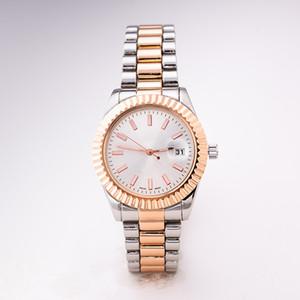Relogio masculino uomo donna marchio abito da sposa designer oro rosa con diamanti calendario oro bracciale orologio in acciaio con una scatola