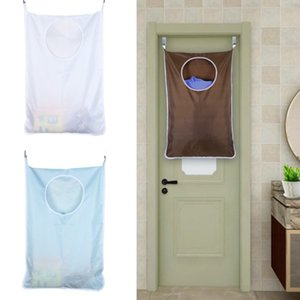 Household Hanging Laundry Hamper Over Door Large Capacity Dirty Clothes Storage Bag Portable Durable Oxford Cloth Recycle Bag
