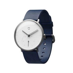XIAOMI Mi Mijia QUARTZ Smart Watch Leben wasserdicht mit Doppel Dials Alarm Sport Sensor Pedometer Zeit-Leder-Band Mi Startseite APP