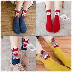 Estilos de Navidad de dibujos animados carga animal 5 diseños de las mujeres calcetines de invierno para niños Regalos de Navidad del partido del calcetín Para los favores de la personalidad 13sx E1