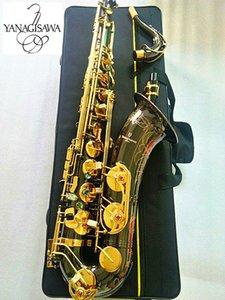 Nueva marca japones YANAGISAWA W-037 B Flat saxofón tenor Negro Níquel Oro Instrumento musical Saxofón profesional y el caso