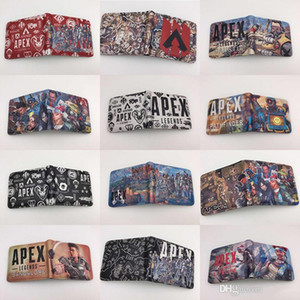 Apex Legends Cosplay Billetera 25 estilos Tarjeta de Impresión 3D Titular de la tarjeta Monedero Bolsillo adolescente Corto Monedero Juguetes de Dibujos Animados bolsas niños Regalo