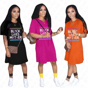 2020 BLACK LIVES MATTER Oversize футболка дизайнерская футболка для женщин летние свободные платья повседневная спортивная пляжная блузка платья общая горячая D61803