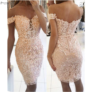 New Womens Dress Solid Off Shoulder Backless Bodycon Lace Summer Party Cocktail Sheath Column Prom Women Dress Drop Shipping