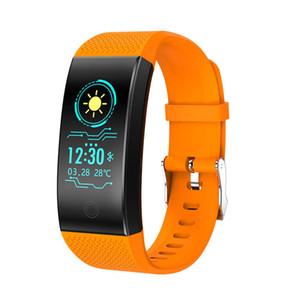 QW18 الذكية سوار ضغط الدم الأوكسجين في الدم رصد معدل ضربات القلب للماء ووتش الذكية للياقة البدنية المقتفي ساعة اليد للحصول على الروبوت فون