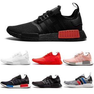 Adidas Gucci NMD R1 Boost Hommes Chaussures De Course Militaire Vert Oreo atmos Bred Tricolore OG Classique Hommes Femmes Thunder Sports Trainer Sneakers 36-45