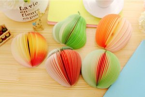 Creative Fruit Forme Notes de notes papier poire pomme citron Mignon Fraise Memo Pad Post-it papier Pop Up Notes de l'école de fournitures de bureau gratuit SHIP