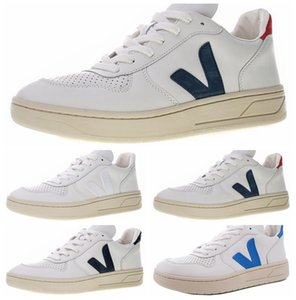 VEJA ESPLAR Chaussures de sport supplémentaires en cuir Casual Mode V Triple Mens Designer Superstar Blanc Chaussures Sport Courir Formateurs Chaussures Zapatos