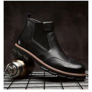 Hot Sale-Mens Designer Martin Botas alunos além de veludo Casual Quente Cotton Botas Fashion Trend New Style Mens de alta corte Tooling Botas