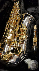 JUPITER JAS 1100 Alto Eb Tune E Flat Musical Instrument Brass Silver Plated Body Gold Lacquer Key Sax with Case Mouthpiece Accessories