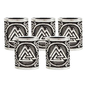 5Pcs Vikings Runes Beads Dreadlock Hair Braid Bead Fashion Hair Accessories for Women Men Braiding Bracelet Necklace DIY Craft