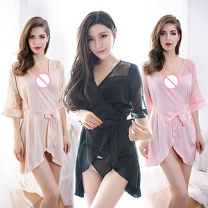 Yeni bayan iç pijama iç çamaşırı dantel örgü kayış makbuzları sırf seksi iç çamaşırı bayanlar elbise yarım Slips slip kayışla elbise