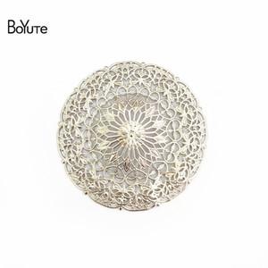 BOYUTE Jewelry Accessories Wholesale DIY (10 pieces / Lot) نحاس المعدن ختم 55MM النتائج زهرة تخريمية كبيرة