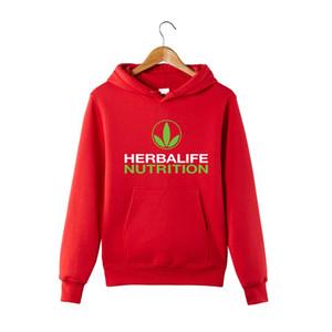 2019 Herbalife Ernährung Printed Hoody Männer Frauen-Grün-Logo Herbalife Graphic Hoodies Sport Jacken Mäntel Harajuku Sweatershirts