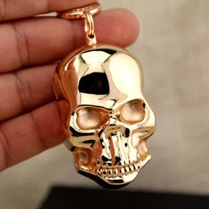Mini Metal Usb Lighter Antivento Portachiavi Ciondolo creativo Skull USB ricarica accendino Ricaricabile Illuminazione Spedizione gratuita
