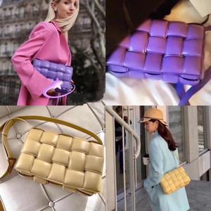 Handbag sacos de ombro 2019 mulheres s mensageiro saco de lazer temperamento plissado Plaid tecido travesseiro de couro de vaca