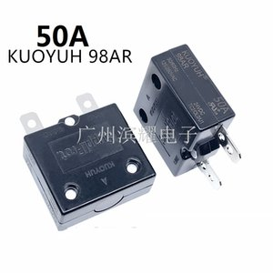 Taiwan KUOYUH Overcurrent Protector Overload Switch 50A 98AR Series Automatic Reset