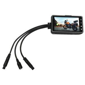 Detecção de movimento Display LCD da motocicleta traço Cam DVR Prático Grande Angular Easy Install carro Dual Lens Driving Painel Night Vision