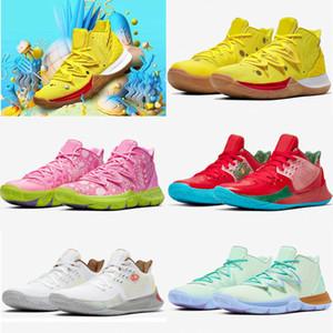 2020 Yeni Geliş Tasarımcı Yıldız Kyrie 5 Sarı Pratik Basketbol Ayakkabı Erkek Doğa Sporları Eğitmenler Sneakers Üst Kalite Runner Ayakkabı