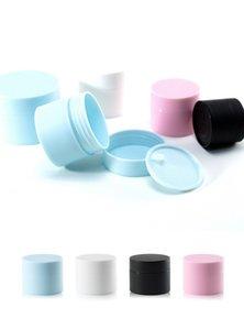 5g 15g 20g 30g 50g PP crema cosmética tarros con tapa Vacío Loción de contenedores de alta calidad Negro Azul Rosa Blanco Botellas de embalaje JXW566