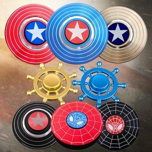 Captain America Fidget Spinner metallo Tri Spinners mano Figet GyroToys Finger Spiner per Anti lo stress dei bambini regalo del capretto