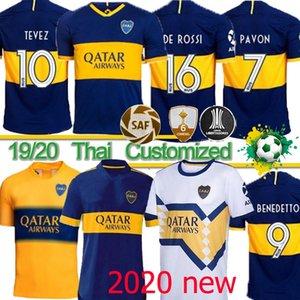 Boca Juniors maradona 16 DE ROSSI Soccer Jersey Início Tibet Marinha Longe amarelas GAGO camisas de futebol Cardona Benedetto Pavón futebol Thai 20 21