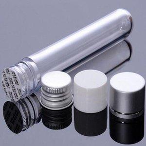 200PCS / لوط 25ML أنبوب من البلاستيك زجاجة الألومنيوم كاب برغي الخالي نموذج الملء اللوازم اختبار وعاء صندوق كاندي حفل زفاف