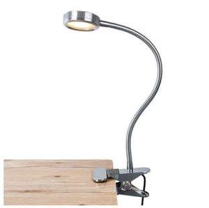 Clip-On LED portátil Reading Lights 3 Brillo recargable con USB cable flexible de cuello de cisne regulable