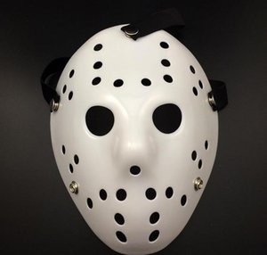 WHITE Porous Men Mask Jason Voorhees Freddy Horror Movie Hockey Scary Masks For Party Women Masquerade Costumes