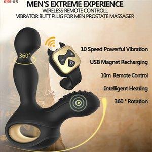 Remote Prostata Heating Vibratoren Dildos Produkte Sex Anal Massagegerät Anal Männliche Männer Sex Masturbator Für rotierende Plug Control Toys Y19062 KEKX