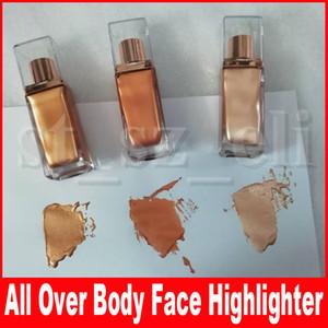 Maquillaje de belleza Todo el cuerpo Cara Resaltador Brillo intenso Duraderos Bronceadores Resaltadores Resplandor líquido 3 colores