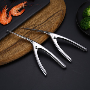 Acciaio inossidabile del gambero Peeler Prawn Deveiner 3 punti rapidi Sbucciatori Kitchen Restaurant Lobster Shell strumenti di rimozione Frutti aC BH1254