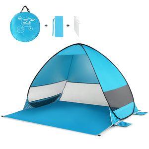 Портативные палатки кемпинга Автоматического До пляжа Палатка Cabana UPF 50+ ВС Укрытия Открытой Рыбалка Туризм Навес Навес