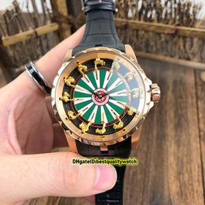 Haute qualité luxe Excalibur 45 RDDBEX0398 Chevaliers de la montre mécanique Table ronde I automatique Hommes Boîtier en acier cuir Montres de sport