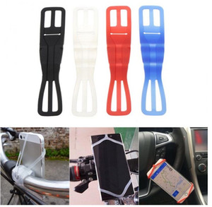 New 1Pcs Universal Mountain Bike Silicone Strap Elastic Flashlight Bandage Bicycle Mount Holder For Mobile Phone