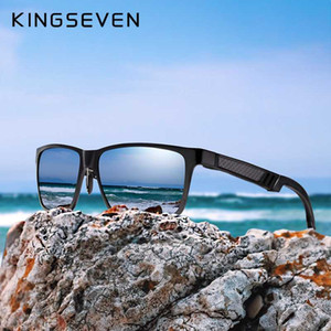 Kingseven marca óculos masculinos quadrados óculos de sol polarizados UV400 lente acessórios de óculos macho sol óculos para homens / mulheres