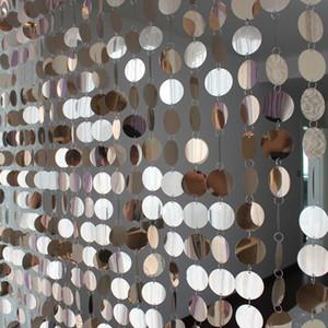 5strips / lot del festival del partido de las lentejuelas Material PVC Cortina interior de la sala de la puerta decoración del hogar Cortinas de bricolaje boda Supplie