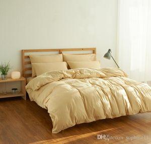 Solid Color 4 Pcs Bedding Set Microfiber Bedclothes Multi Colors Duvet Cover Bedding Sheet Pillowcase Queen King Size