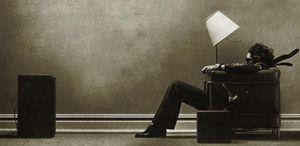 Steve Steigman Blown Away Sépia Retro Art Silk Impressão Poster 24x36 polegada (60x90 cm)