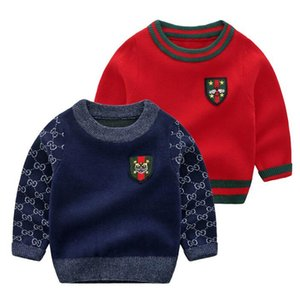 Hot Selling 2020 Autumn Winter New Boys Girls Baby Sweater Comfortable Warm Long Sleeve Round Collar Clothing Fashion Baby Woollen Sweater